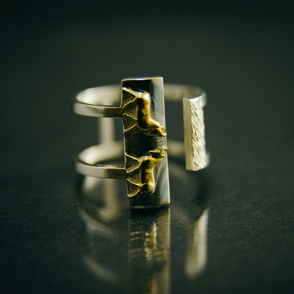Ring with bulls