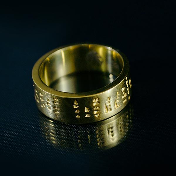 Erebuni-Yerevan gold plated ring