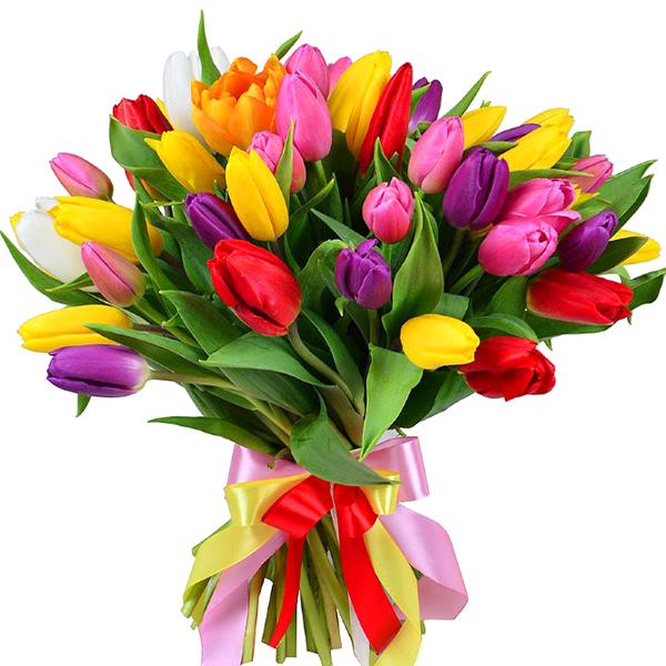 Букет Из Тюльпанов Весна