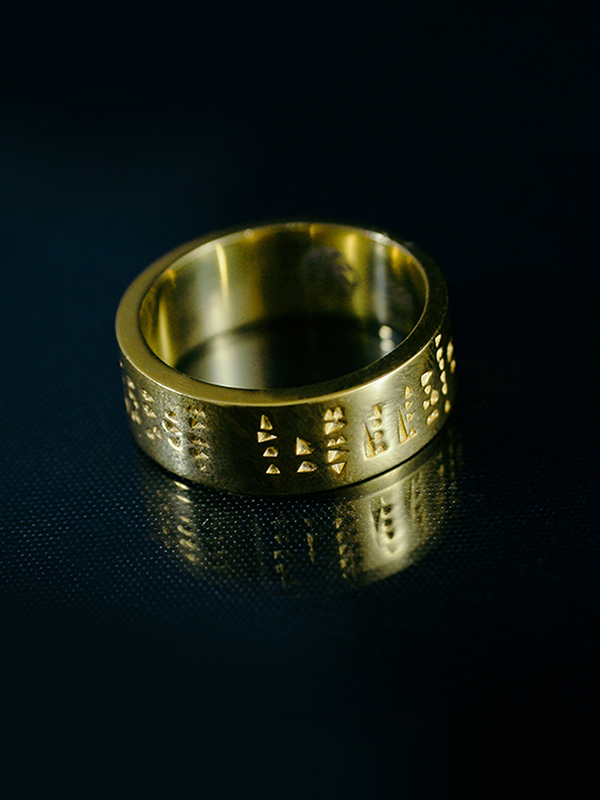 Erebuni-Yerevan gold plated ring