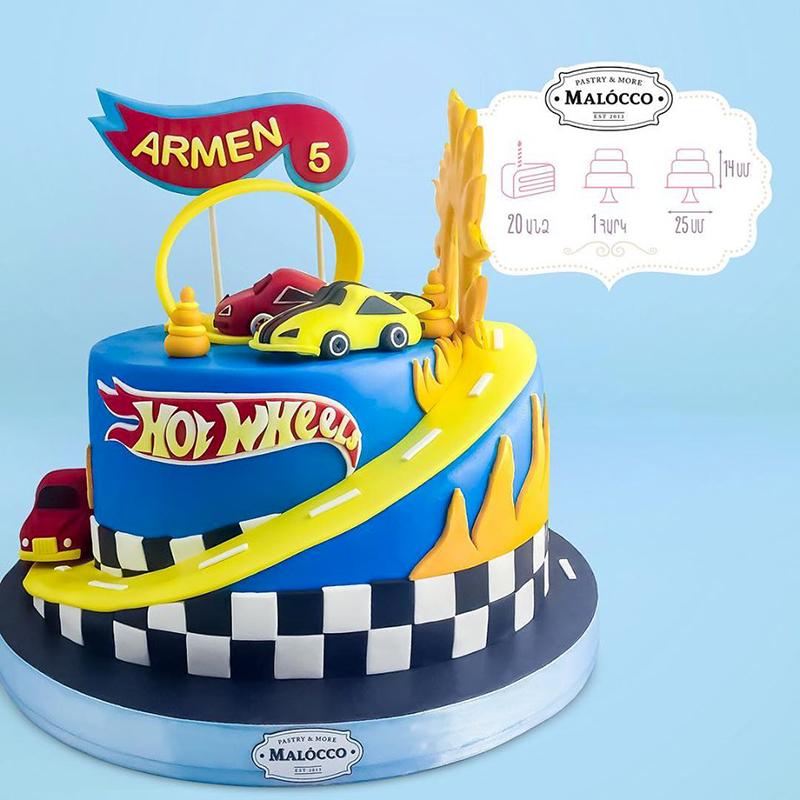 Торт Hot wheels