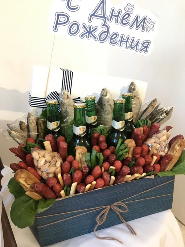 Men's gift Beer basket
