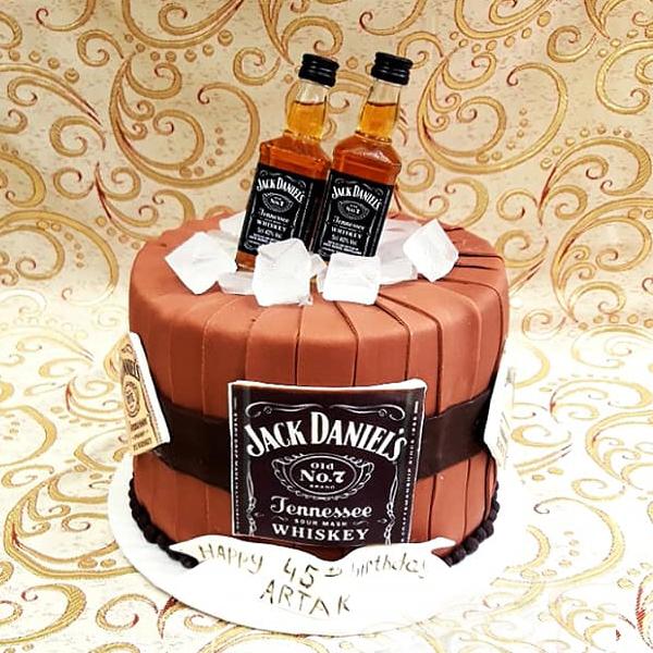 Cake for man Jack Daniel's